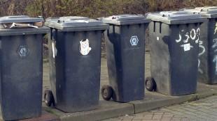 Afvalcontainers in Den Helder (foto Den Helder Actueel)