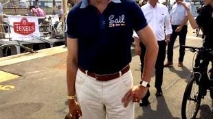 Burgemeester Koen Schuiling helemaal in stijl (foto Petra Kroon/Facebook)