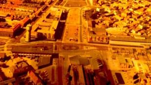 Een luchtfoto van Den Helder uit het archief van oud wethouder G.J. van den Bosch (foto Wiltrude Van den Bosch-Turnhout/Twitter)