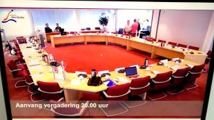 Gemeenteraad Den Helder begint na uitgelopen Presidium met de vergadering om 20.00 uur i.p.v. 19.30 uur (foto Bo-Anne van Egmond/Twitter)