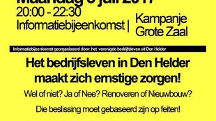 Het bedrijfsleven in Den Helder maakt zich ernstige zorgen! (foto Den Helder Actueel)