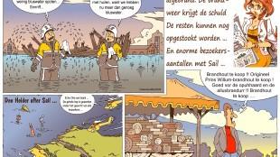 Martin Man – Sofietje's Helders Weekblad Cartoon-Chronicles (53): Zeilschip Prins Willem afgebrand
