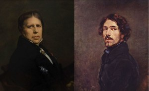 Ingres and Delacroix represented two different schools of painting in 19th century France