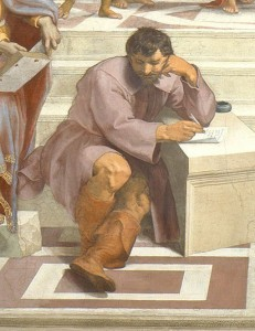 Raphael - School of Athens (Michelangelo)
