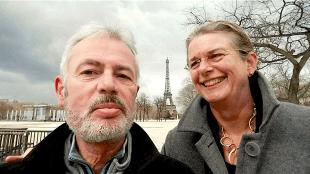 Ron Miltenburg & Pauline Krikke in Parijs (foto Ron Miltenburg)