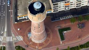 De gerestaureerde watertoren (foto Peter van Aalst)