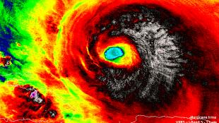 Hurricane Irma (foto NASA/NOAA/UWM-CIMSS, William Straka)
