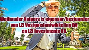 Wethouder Kuipers is eigenaar/bestuurder van LZI Vastgoedontwikkeling BV en LZI Investments BV (foto YouTube)