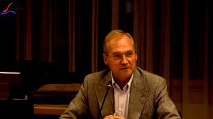 Wethouder Lolke Kuipers, de lijsttrekker van D'66 bij de komende gemeenteraadsverkiezingen (foto Staf RSMuseum)