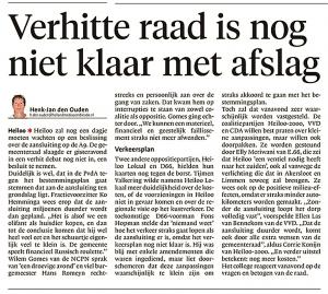 Alkmaarse Courant, 10 oktober 2017