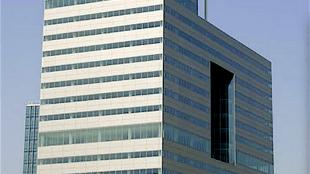 De Ito toren op de Zuid as in Amsterdam, momenteel is daar advocatenkantoor Houthoff Buruma gevestigd met 12.500 meter vloeroppervlak (foto Victhor/Photobucket)