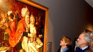 """Guido Thys en zijn partner Karin bij """"Vrouwen Wereld van Jacob Waben (foto Theo Groot)"""