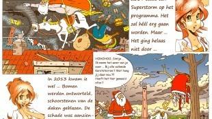 Martin Man – Sofietje's Helders Weekblad Cartoon-Chronicles (110) Voor 5 december staat een superstorm op het programma