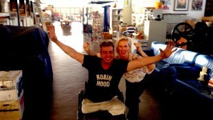 Rob & Lijsje juichend! (foto Staf RSMuseum)