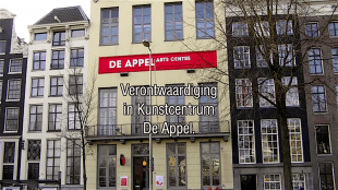 Verontwaardiging in Kunstcentrum De Appel (foto YouTube)