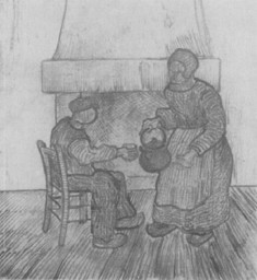 fig. 4 Peasants in front of a fireplace