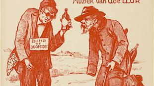 De Blinde en de lamme Hoogst komische Voordracht voor twee Heeren door Geb: Boesnach (foto Edwin Mijnsbergen)