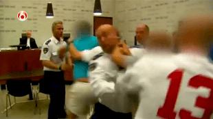 Eigenrichting in gerechtszaal (foto YouTube)