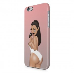 Kim kardashian Big butt emoji iPhone 6, 6S Hard plastic Case Cover