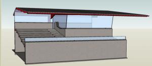 Schets-ontwerp van architect Sander Douma in 2009 (Archief NDR)