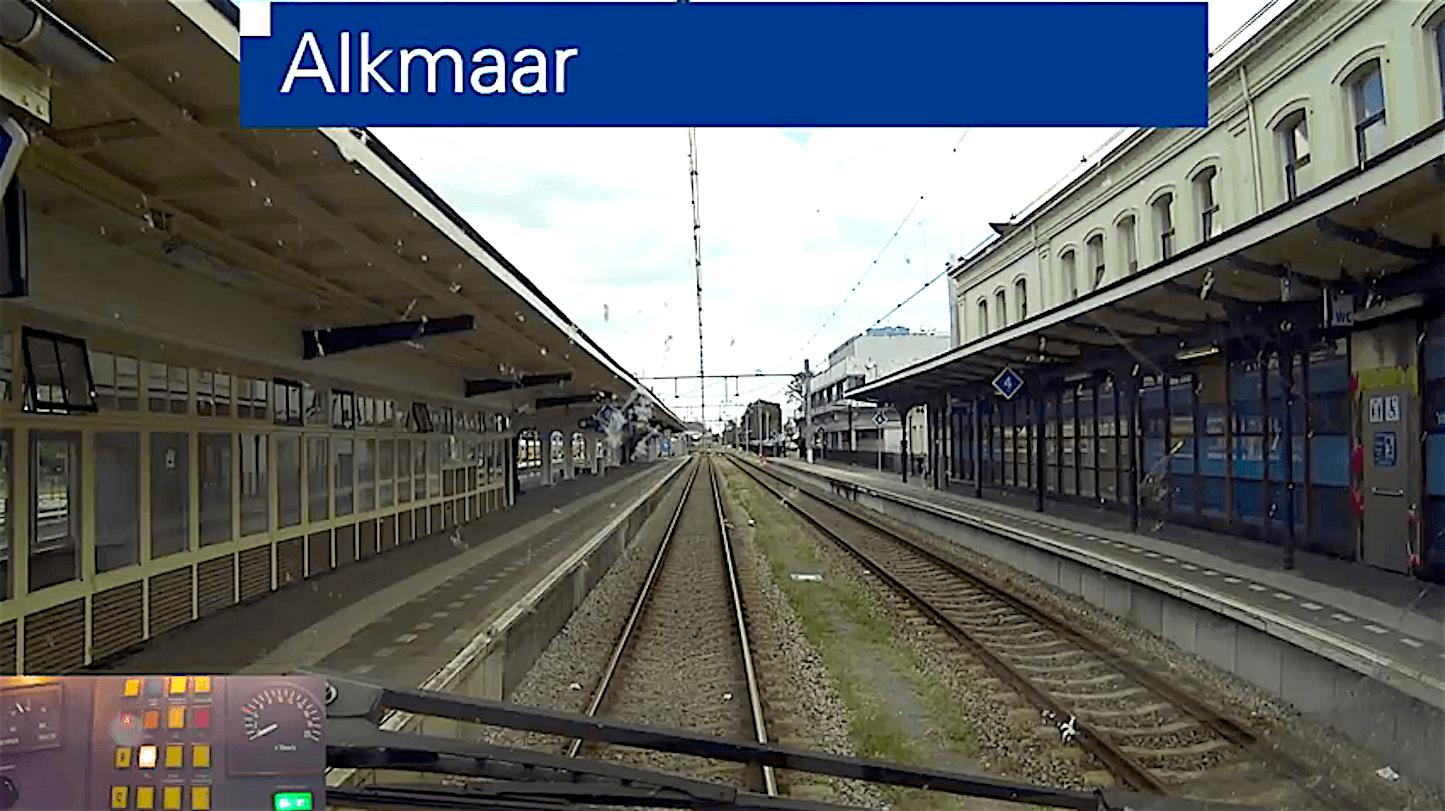 Vertrek op Station Alkmaar (foto YouTube)