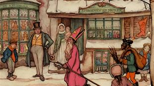 Anton Pieck - Sinterklaas en Zwarte Piet