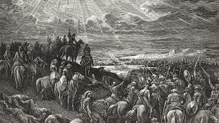Gustave Dore - Joshua Commanding the Sun to Stand Still (foto Commons Wikipedia)