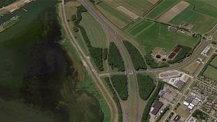 Hier straks geen bomen meer, maar zonnepanelen (foto Hollands Kroon Actueel/GoogleMaps)