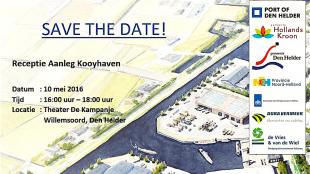 Save the date! Receptie Aanleg Kooyhaven (foto Ontwikkelingsbedrijf Noord-Holland Noord)