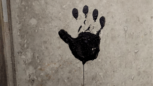 Zwarte hand weer op bezoek in Den Helder (foto VERSEVISKOERIER)