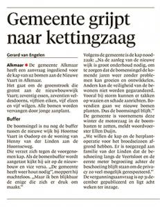 Alkmaarse Courant, 4 januari 2018
