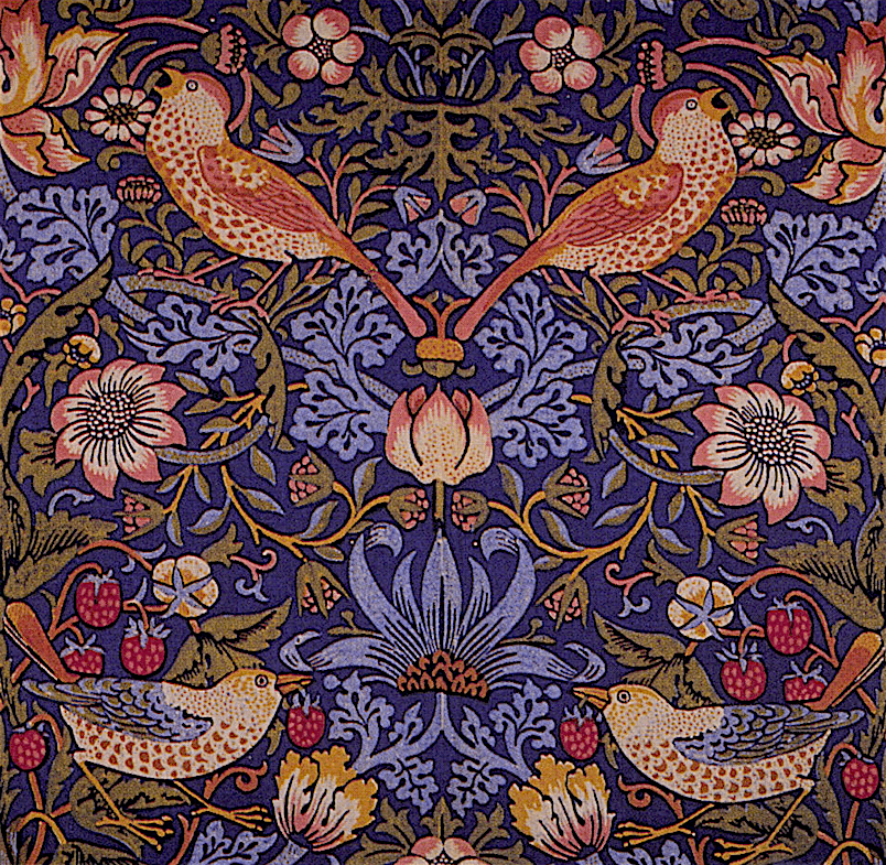 William Morris – The Strawberry Thief (detail)