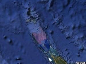 Sandy island in region of Australia - vanished