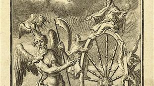 Vader Tijd met het Rad van Fortuin