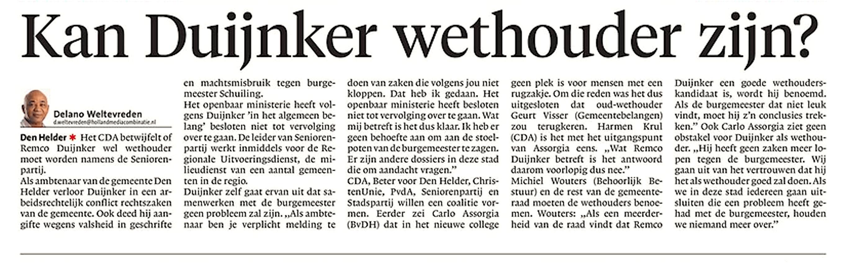 Helderse Courant, 29 maart 2018