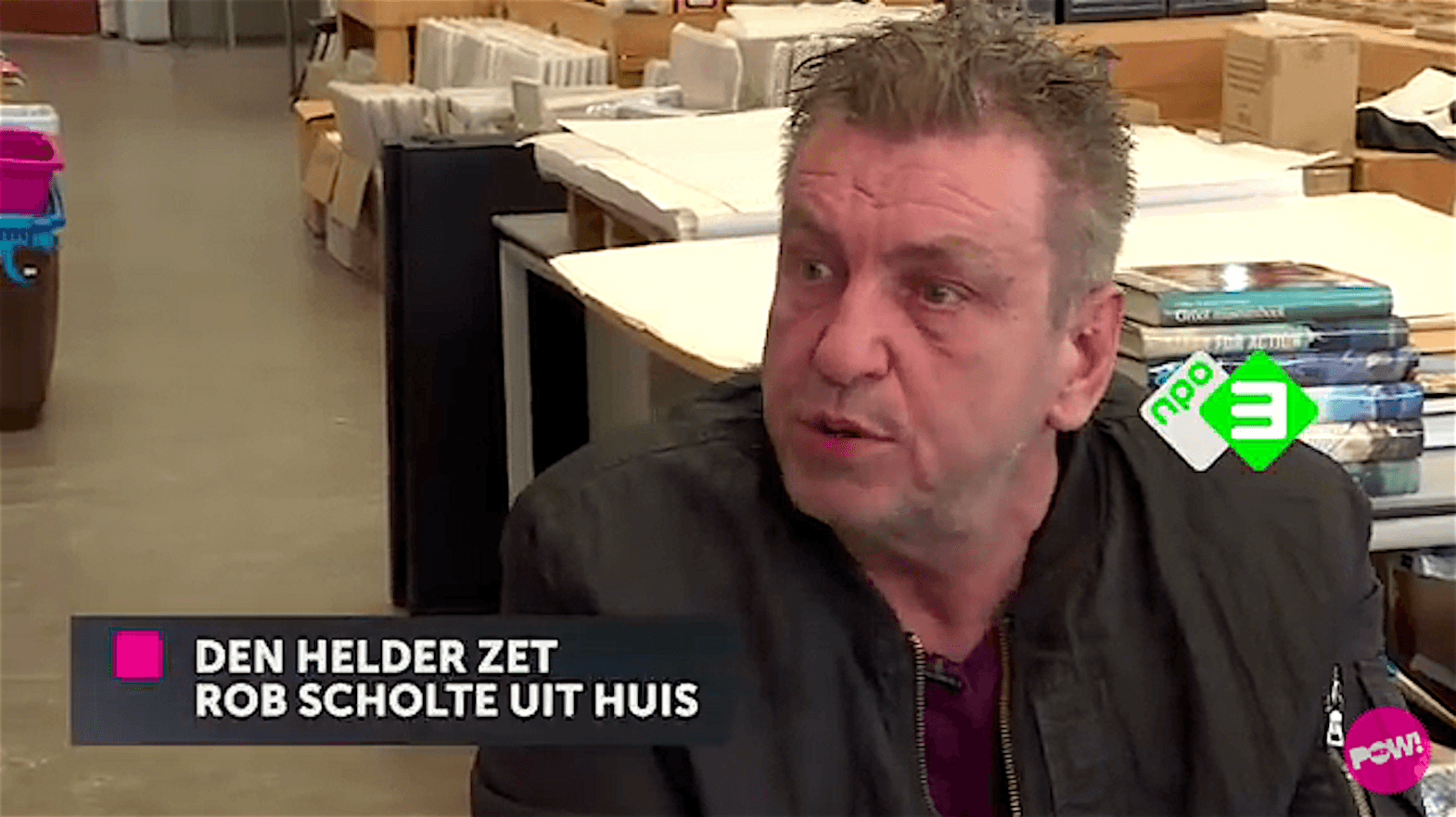 Den Helder zet Rob Scholte huis uit (foto YouTube)