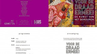 Gorcums Museum - Uitnodiging Voor de draad ermee! De kunst van het borduren