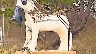 Het paard van Egmond in de nieuwste variatie (foto Marja Bak Aal)