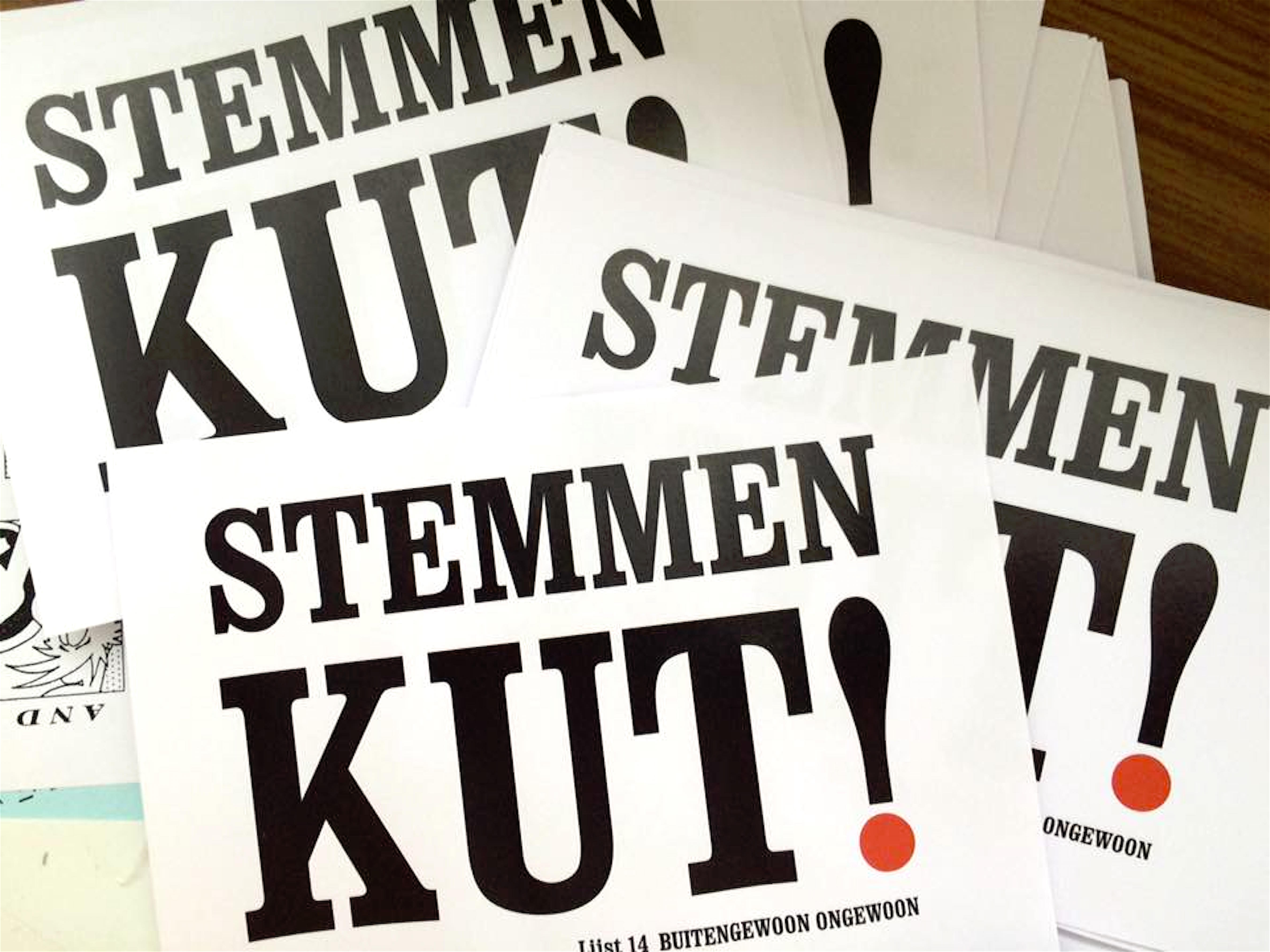 Lijst 14 Buitengewoon Ongewoon: Stemmen KUT! (foto Facebook)