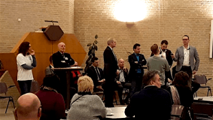 Lijsttrekkers debat Den Helder (foto LOS)