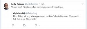 Lolke Kuipers op zijn afgeschermde Twitter account over Marc Nihot (1)