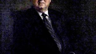 Milan Smidt - Portret van burgemeester Hans Ouwerkerk (foto groninganus)