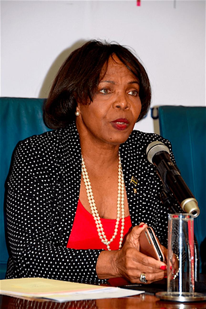 Minister Marilyn Alcalá-Wallé van Onderwijs, Wetenschap, Cultuur en Sport (foto Antilliaans Dagblad)