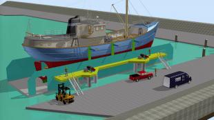Nieuwbouw schepenlift Europees visserijfonds (foto Luytgroep)