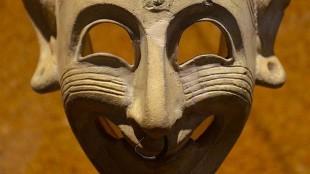 Phoenician mask, 4th century BC (foto Museo Archeologico Nazionale, Cagliari)