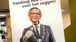 Selfie burgemeester Schuiling (foto Koen Schuiling/LOS)