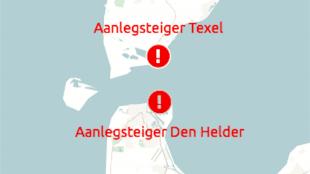 Aanlegsteigers Texel & Den Helder (foto Rijkswaterstaat)