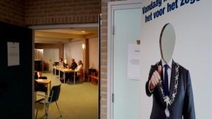 Burrie-frame in Stembureau 1 en 2 in de Bethelkerk te Den Helder (foto DHA)