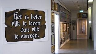 Het is beter rijk te leven dan rijk te sterven van Rob Scholte in het museum (foto Staf RSMuseum)