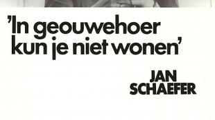 'In geouwehoer kun je niet wonen' Jan Schaefer, PvdA Lijst 1, 31 mei (foto GeenStijl)